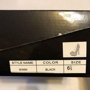 Alba Shoes - Black Textured Heel